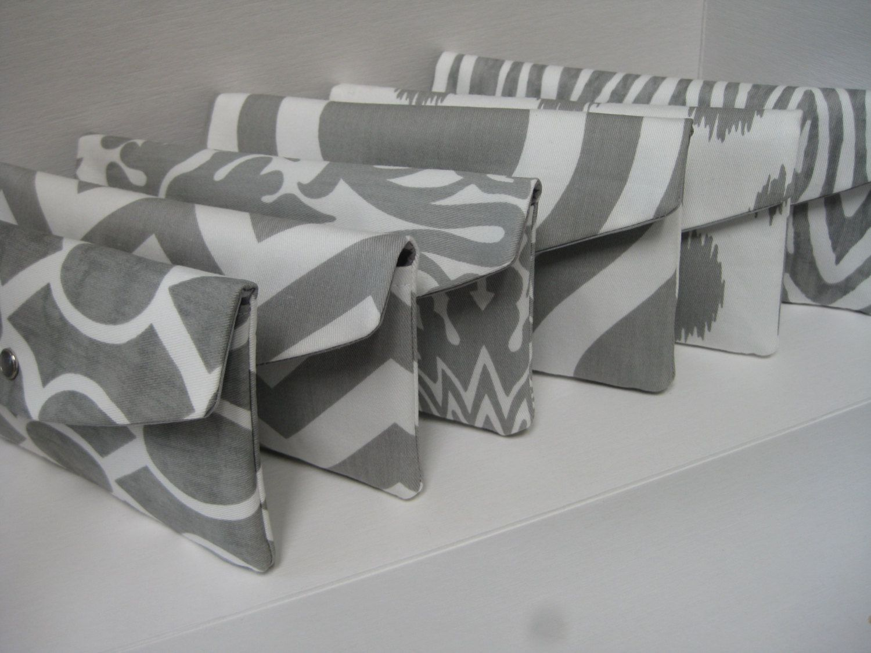 NEW Set of 6Bridesmaids Clutch/Gift /Design Your by KaraMiaSofia, $138.00