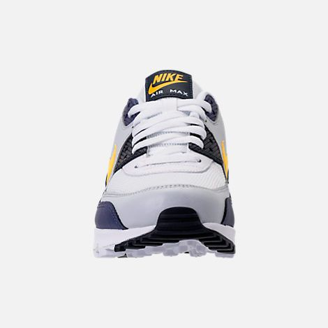 best cheap 8cb93 4eb0d Front view of Men s Nike Air Max 90 Essential Casual Shoes in White Tour  Yellow Blue Recall
