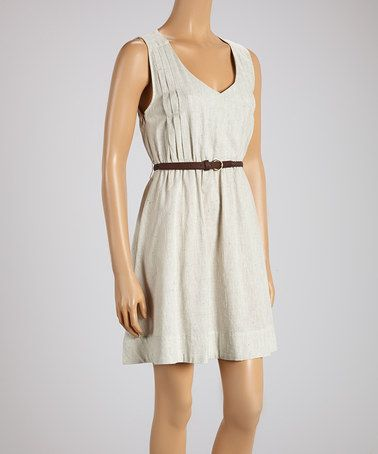 Look what I found on #zulily! Gray Speckled Sleeveless Dress #zulilyfinds