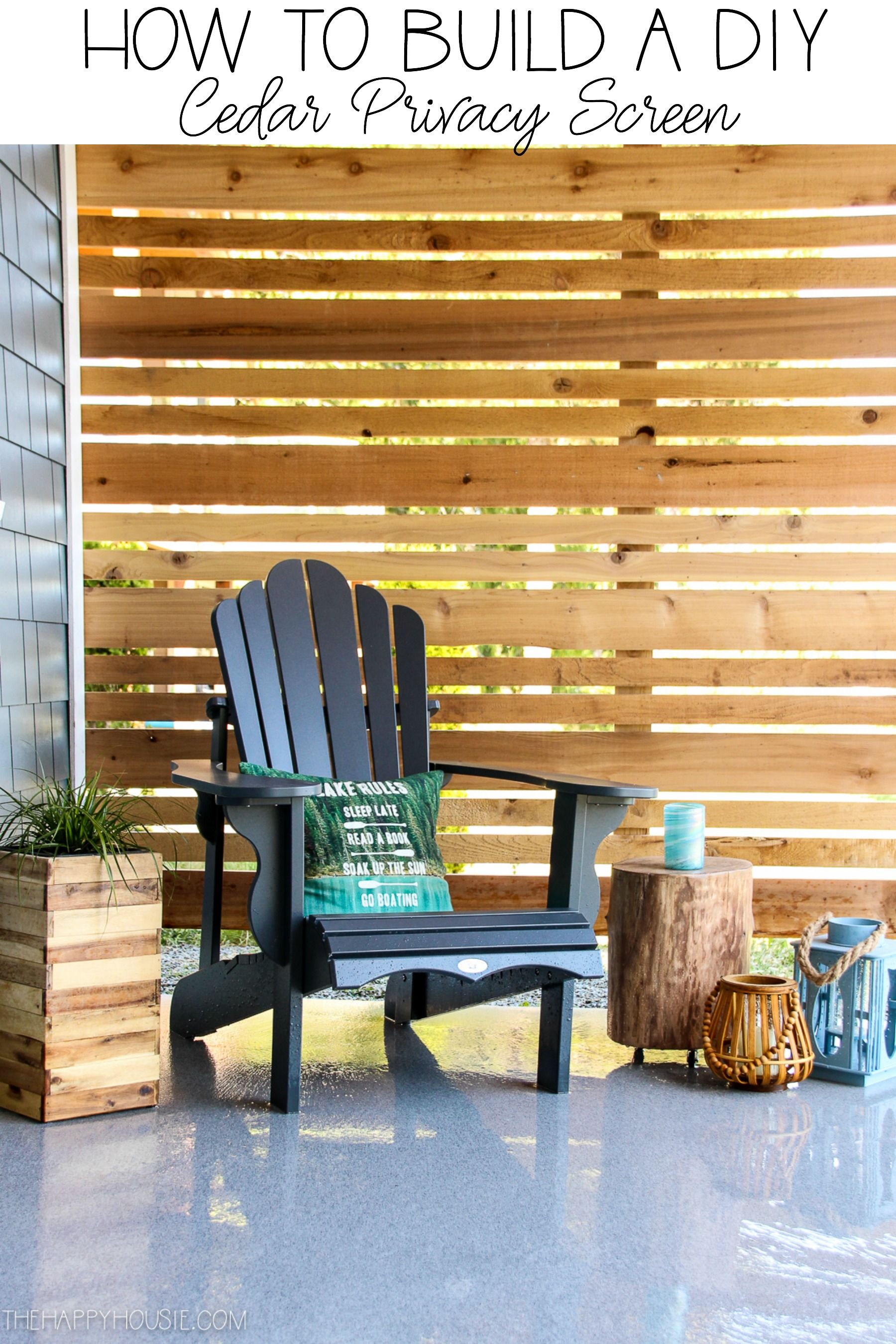 How to Build a DIY Cedar Privacy Screen | The Happy Housie