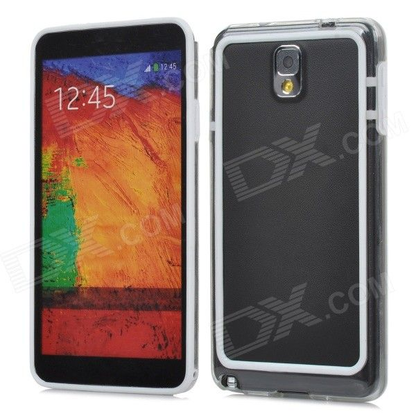 HD Protective Plastic Bumper Frame for Samsung Galaxy Note 3 - White