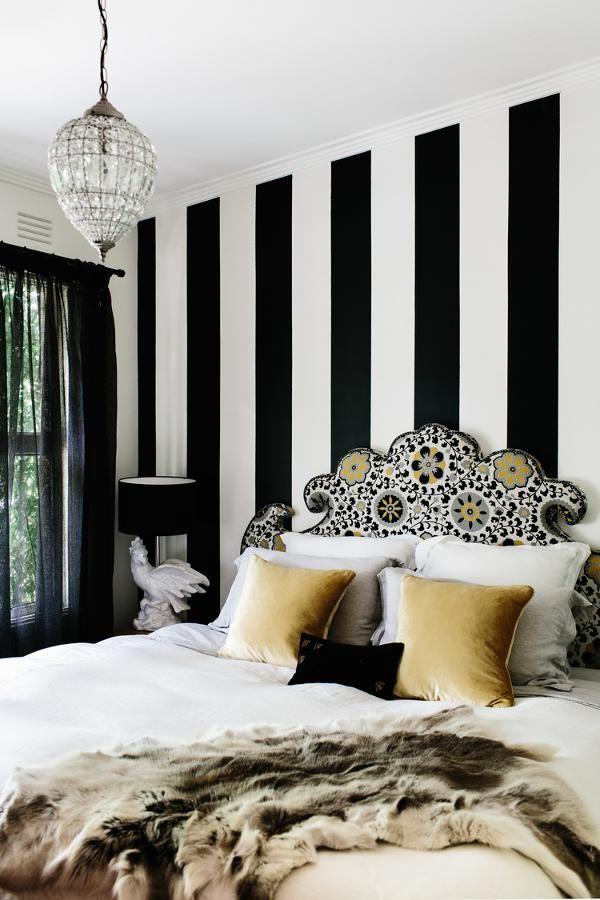 My Favorite Pattern Black And White Stripes Striped Walls