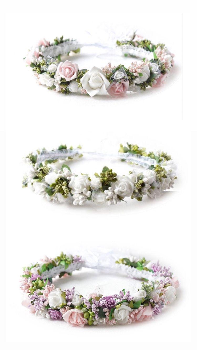 Wianki Komunijne Z Kwiatow Jak Zywe Wianek Komunijny Komunia 2020 Filipola Kids Fashion Jewelry Crown Jewelry