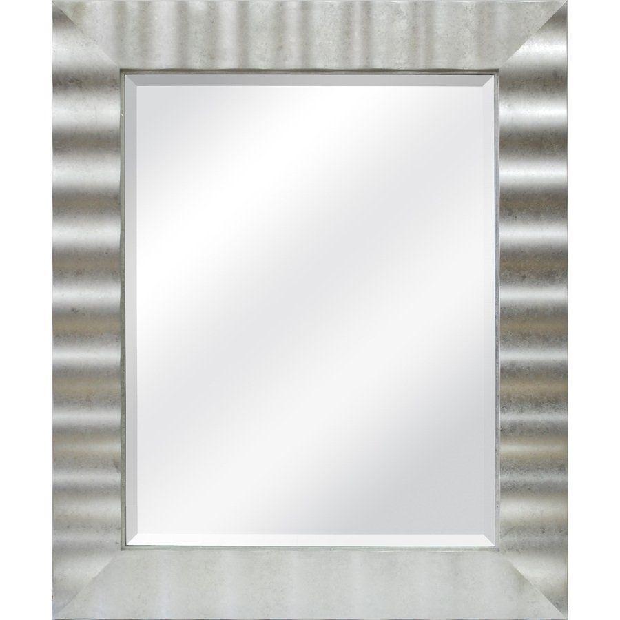 allen + roth 30.1-in x 36.2-in Silver Leaf Rectangular Framed Mirror ...