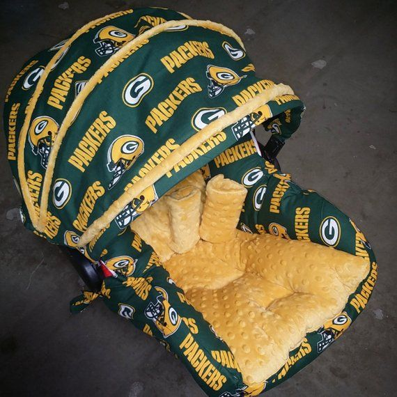 Green Bay Packers Infant Car Seat Replacement Cover You Choose