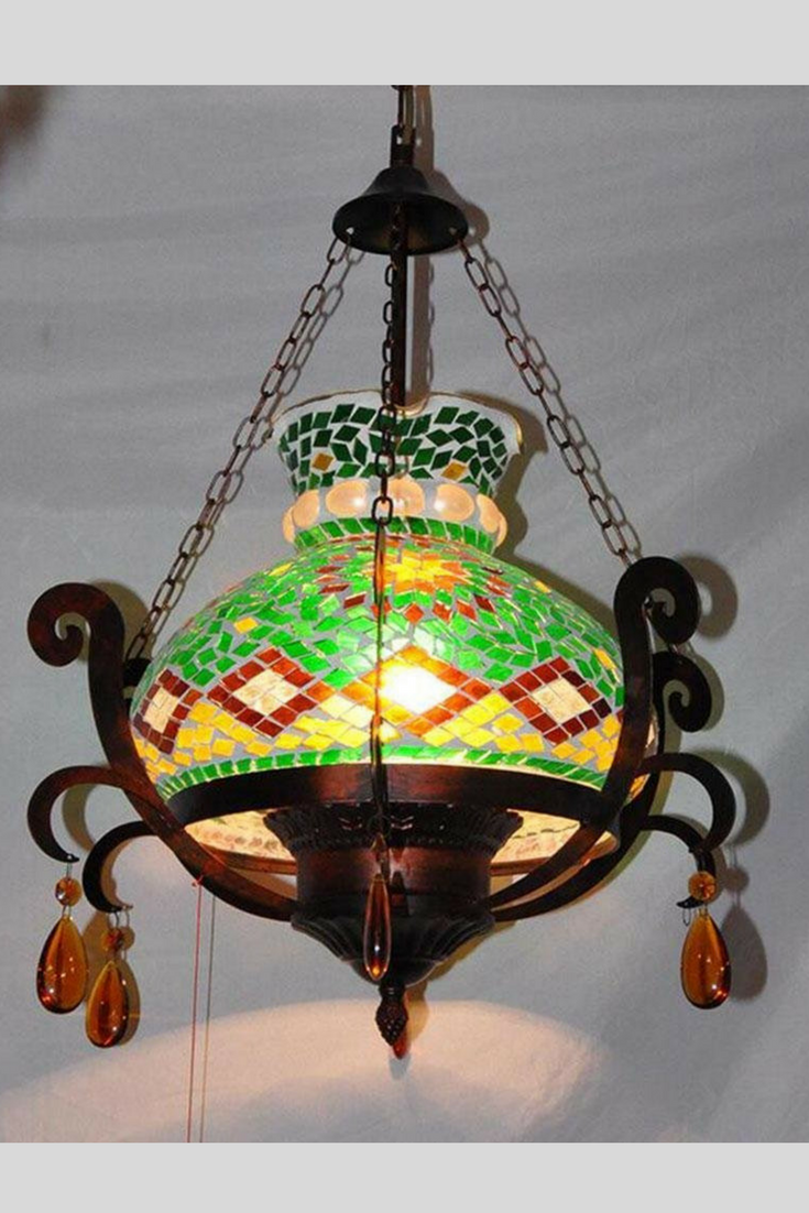 Bohemian moroccan style mosaic chandelier glass vintage look great bohemian moroccan style mosaic chandelier glass vintage look great for many decor boho eclectic arubaitofo Choice Image