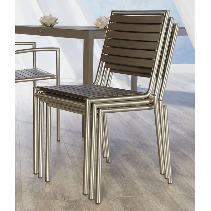 Contemporary Outdoor Dining Furniture: The Niko Outdoor Side Chair Is A Cool Contemporary Outdoor