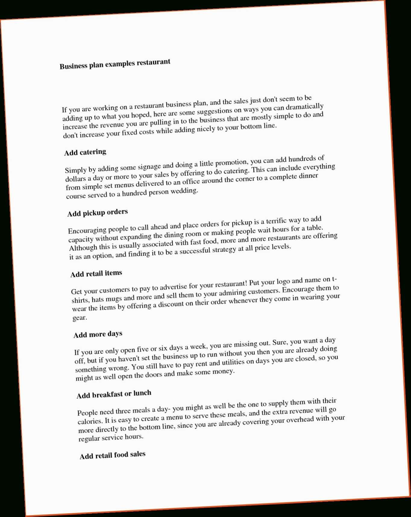 22 Free Sample Business Plan Template Simple Business Plan