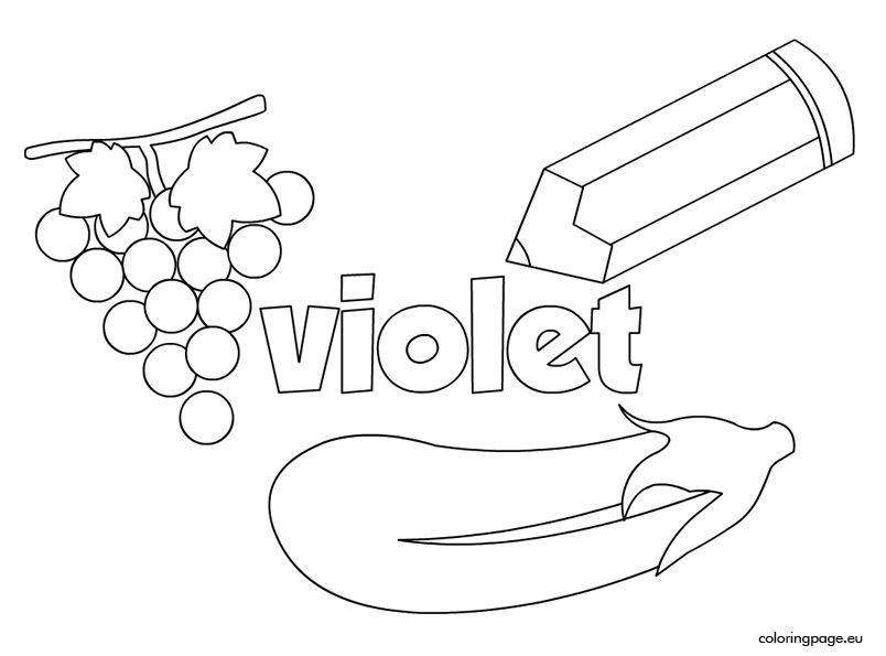The Color Violet Preschool Colors Preschool Coloring Pages