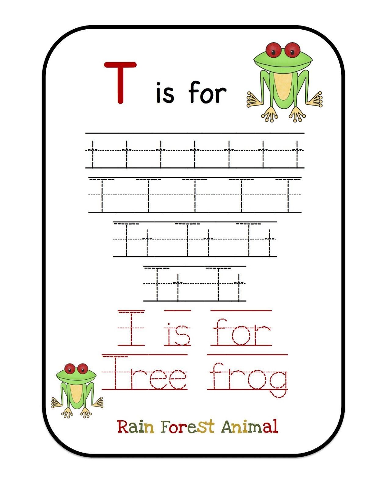 Rain Forest Animal Printable Preschool Printables