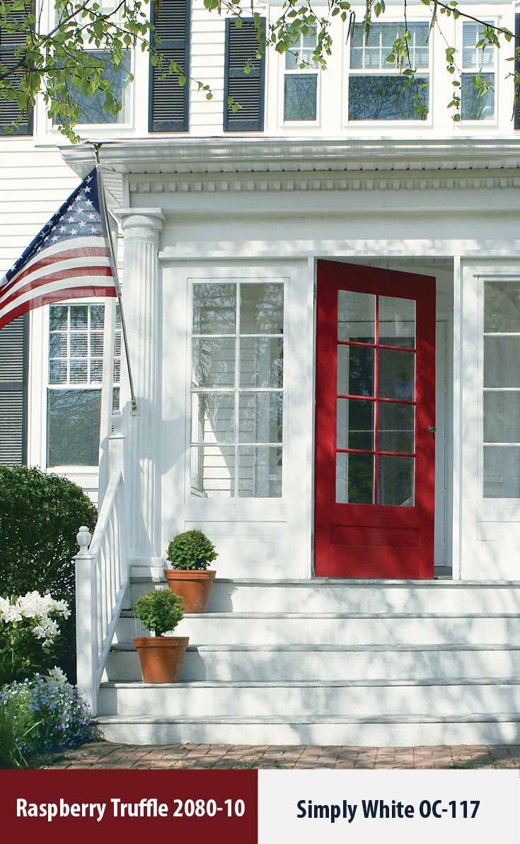 Add This To Your To Do List For Home Improvement Projects For The Long 4th Of July Weekend Refresh Your V House Paint Exterior House Exterior Red Front Door
