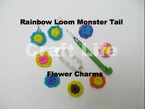 Monster Tail FLOWER Charm. Designed and loomed by Jacy at Craft Life. Click photo for YouTube tutorial. 04/09/14