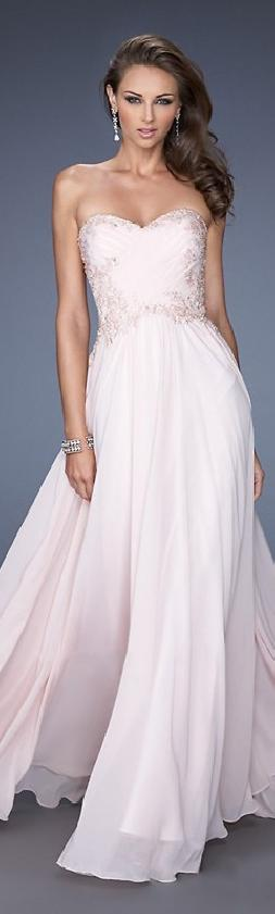 Elegant A-Line Sleeveless Long Chiffon Evening Dress In Stock lovelylovelydresses54125kljh #longpromdress