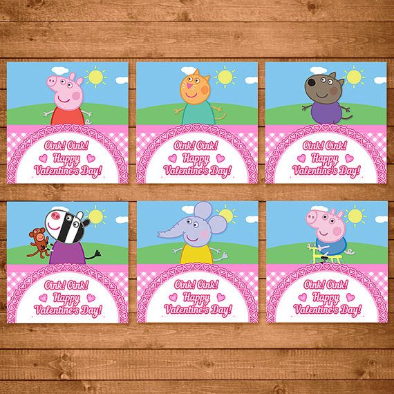 Great Peppa Pig Valentines Day Card Pink By NineLivesNotEnough On Etsy