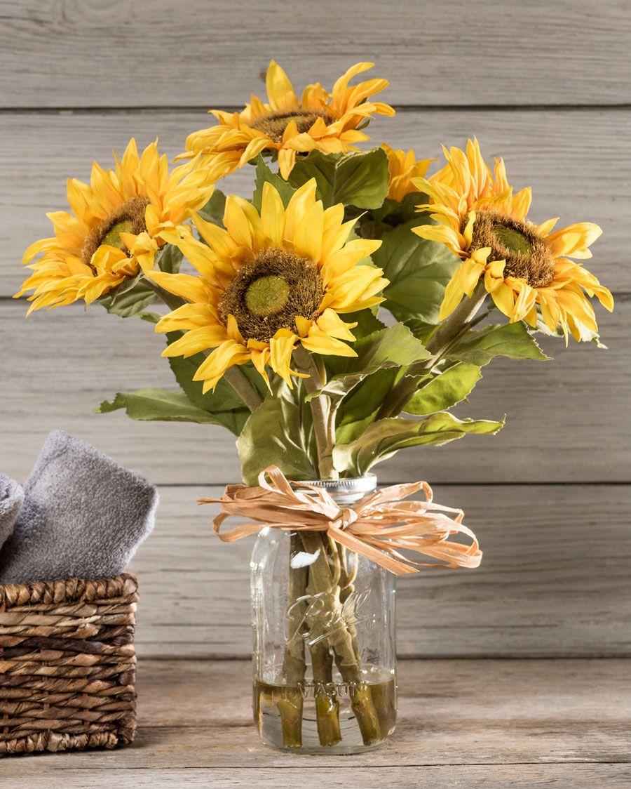 Country sunflowers silk flower arrangement sunflower