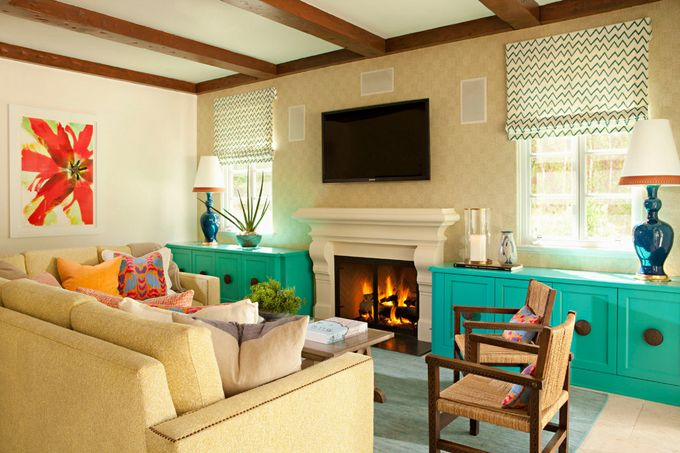 6x Prachtige Bijkeukens : Family room bursting with color and warmth house of turquoise