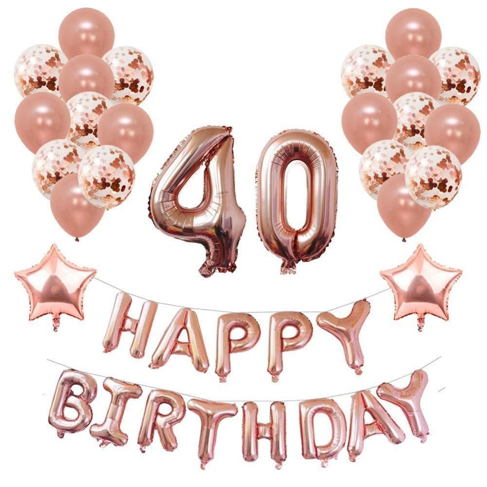 Yoart 40th Birthday Decorations Rose Gold for Women and