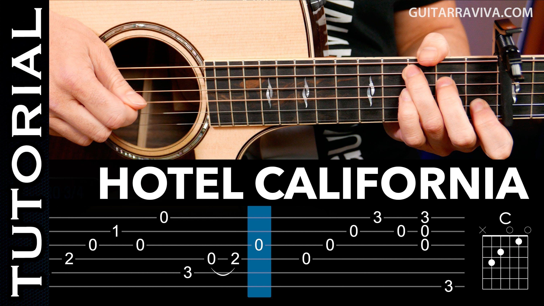 Cómo Tocar Hotel California En Guitarra Acústica Arpegios Y Acordes