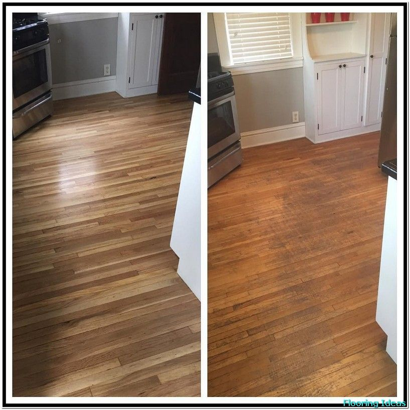 Restaining Hardwood Floors Before And After Desain