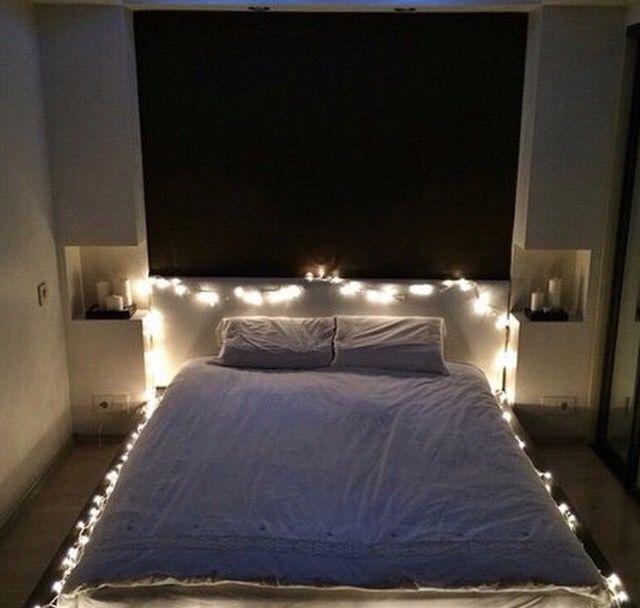 Lights around the bed