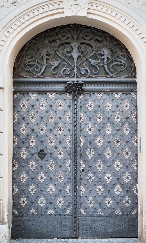 Prague Photography - Ornate Door, Architecture Tra