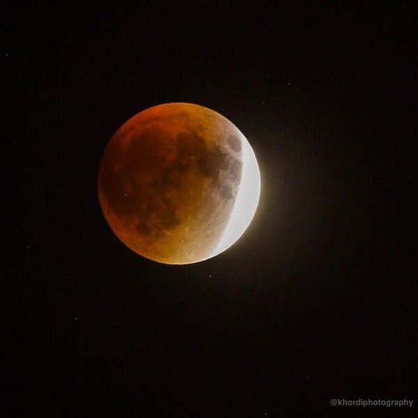 Mooning Over New Missoni: Nearly Eclipsed Moon Over New York City, September 27