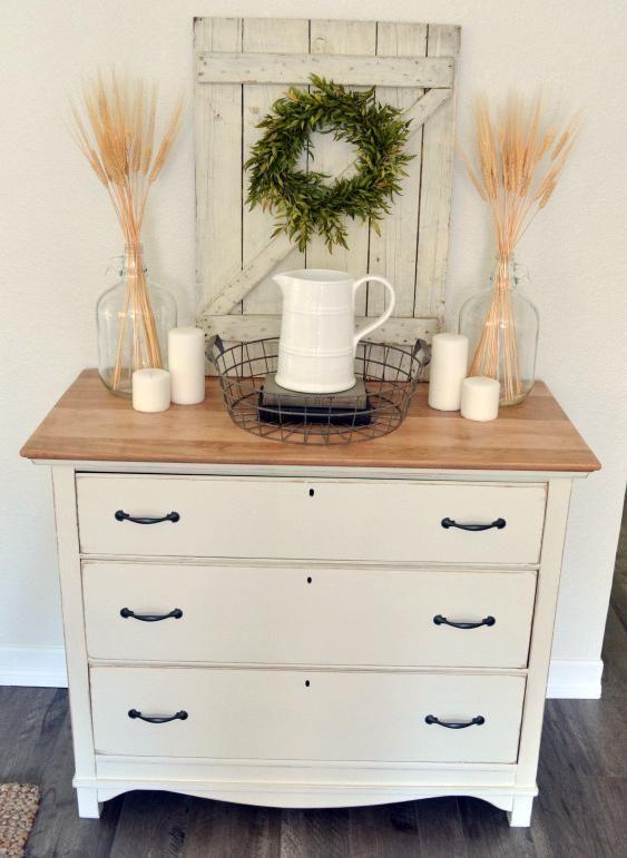 antique white farmhouse dresser