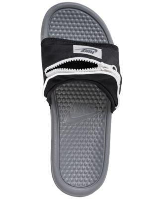 12f9426be7ed Nike Men s Benassi Jdi Fanny Pack Slide Sandals from Finish Line - Black 10