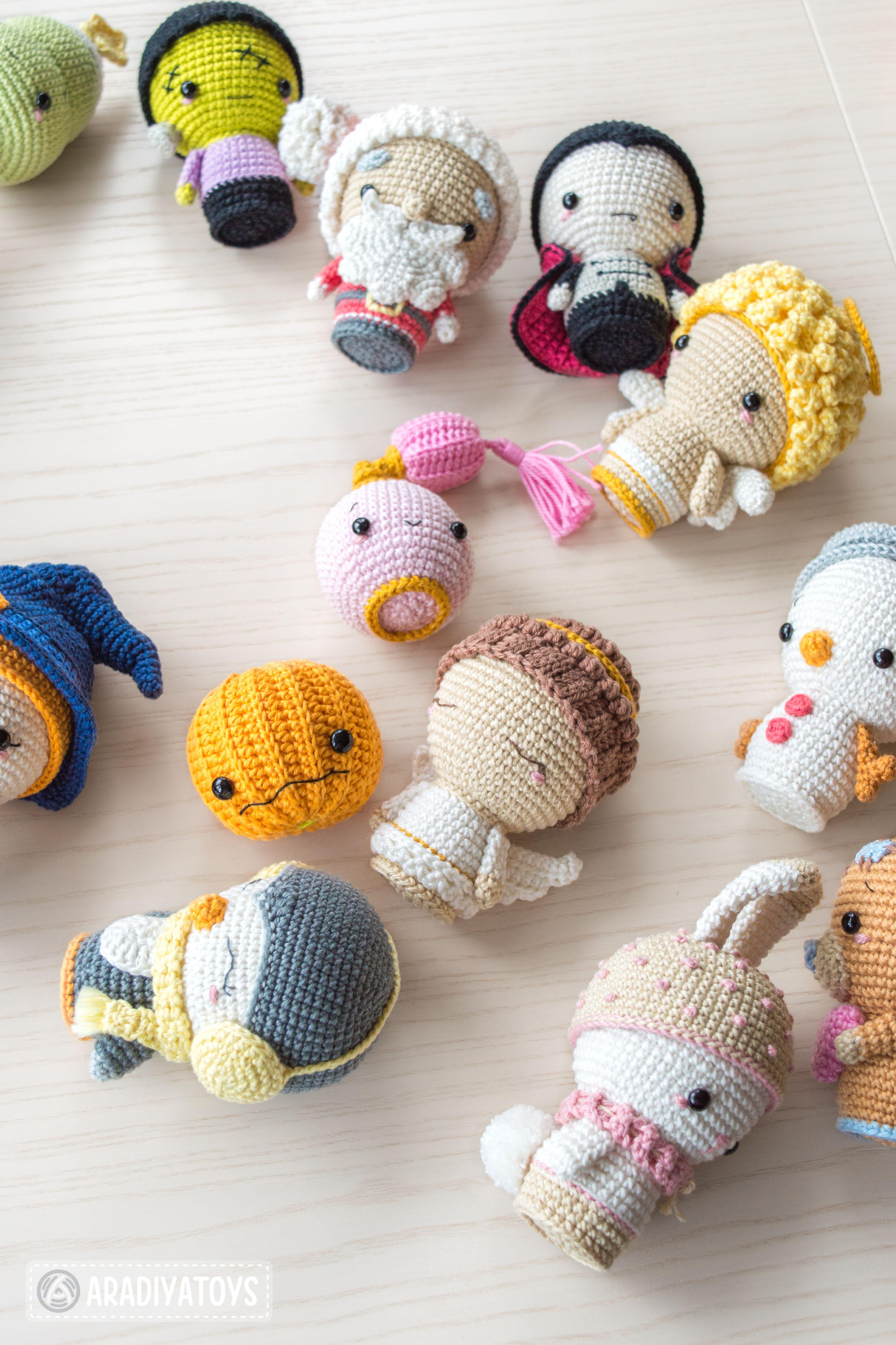 doll-butterfly crochet pattern CROCHET PATTERN set English PDF lambsheep crochet pattern