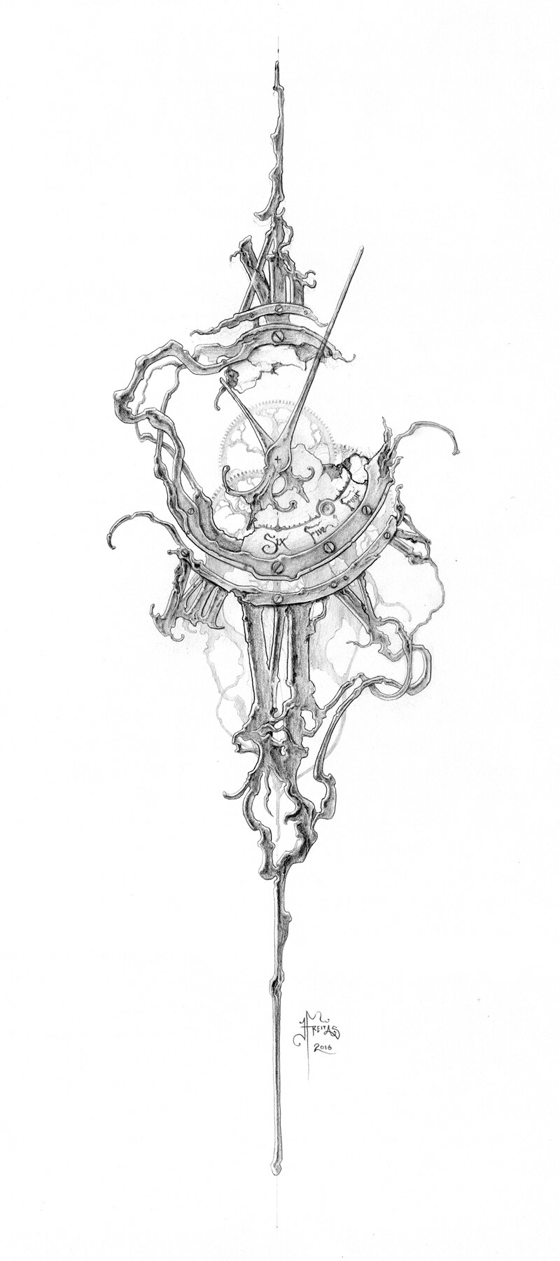 The Clockwork Of Eric Freitas Fine Horological Horticulture Card Tattoo Designs Tattoo Sleeve Designs Clock Tattoo Design
