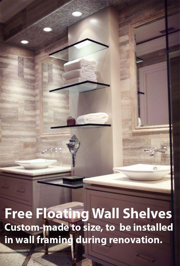 GLASS SHELVES - glass shelving Bathroom Ideas Pinterest Glass