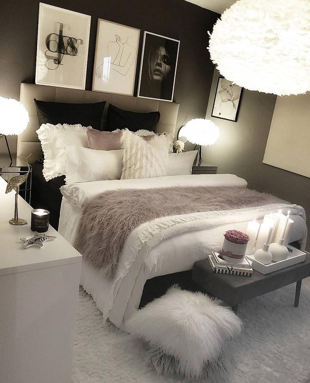 Best Female Content On Instagram Cozy Night Leave Your Comment Follow Female Styl In 2020 Small Room Bedroom Luxurious Bedrooms Stylish Bedroom Design