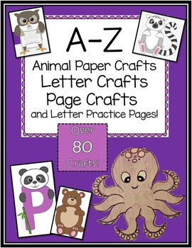 A Z Animal And Alphabet Letter Crafts Big Bundle Letter A Crafts Paper Animal Crafts Alphabet Letter Crafts