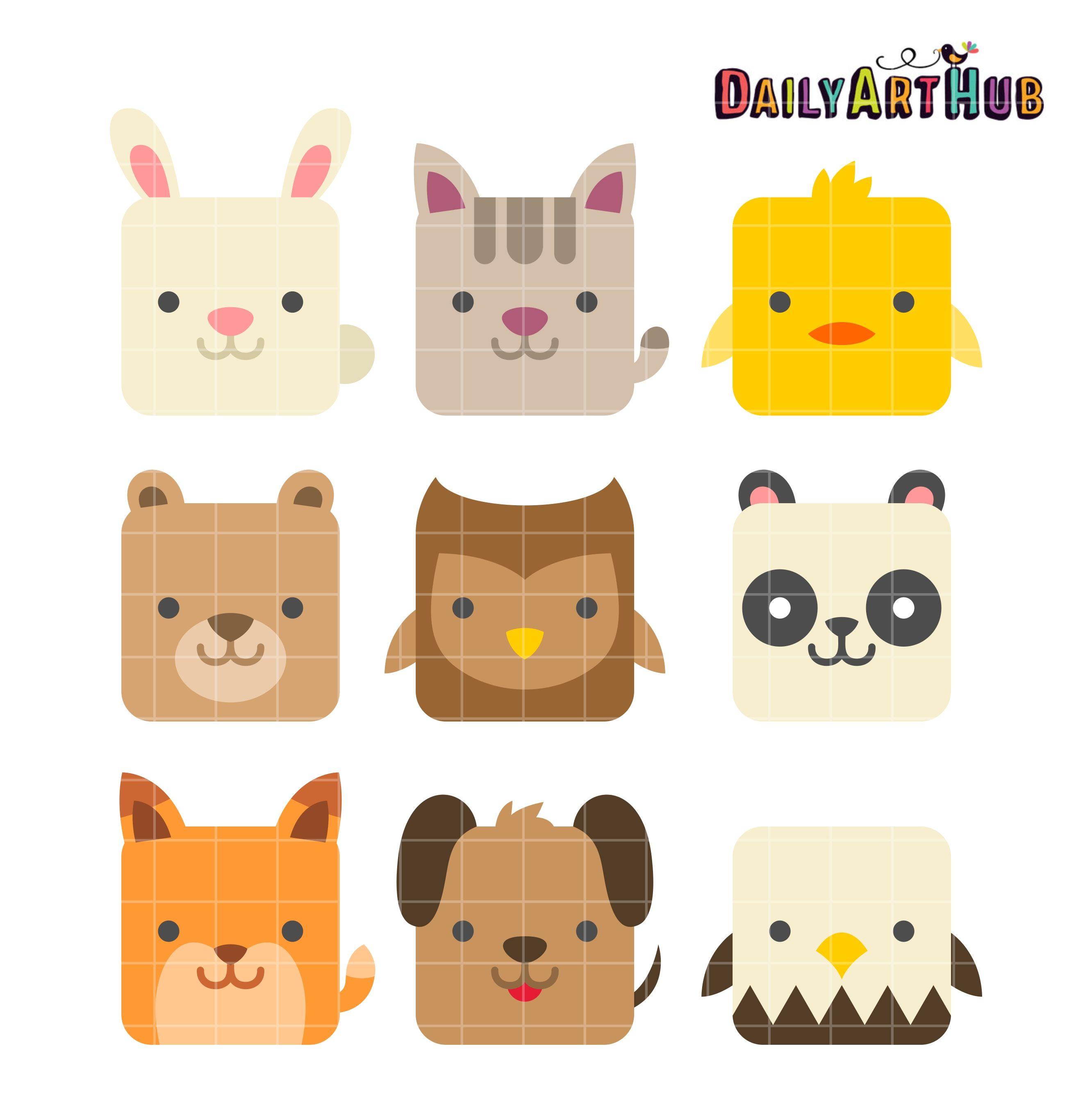 Cute Animal Clipart Art Hub Art And Craft Paper