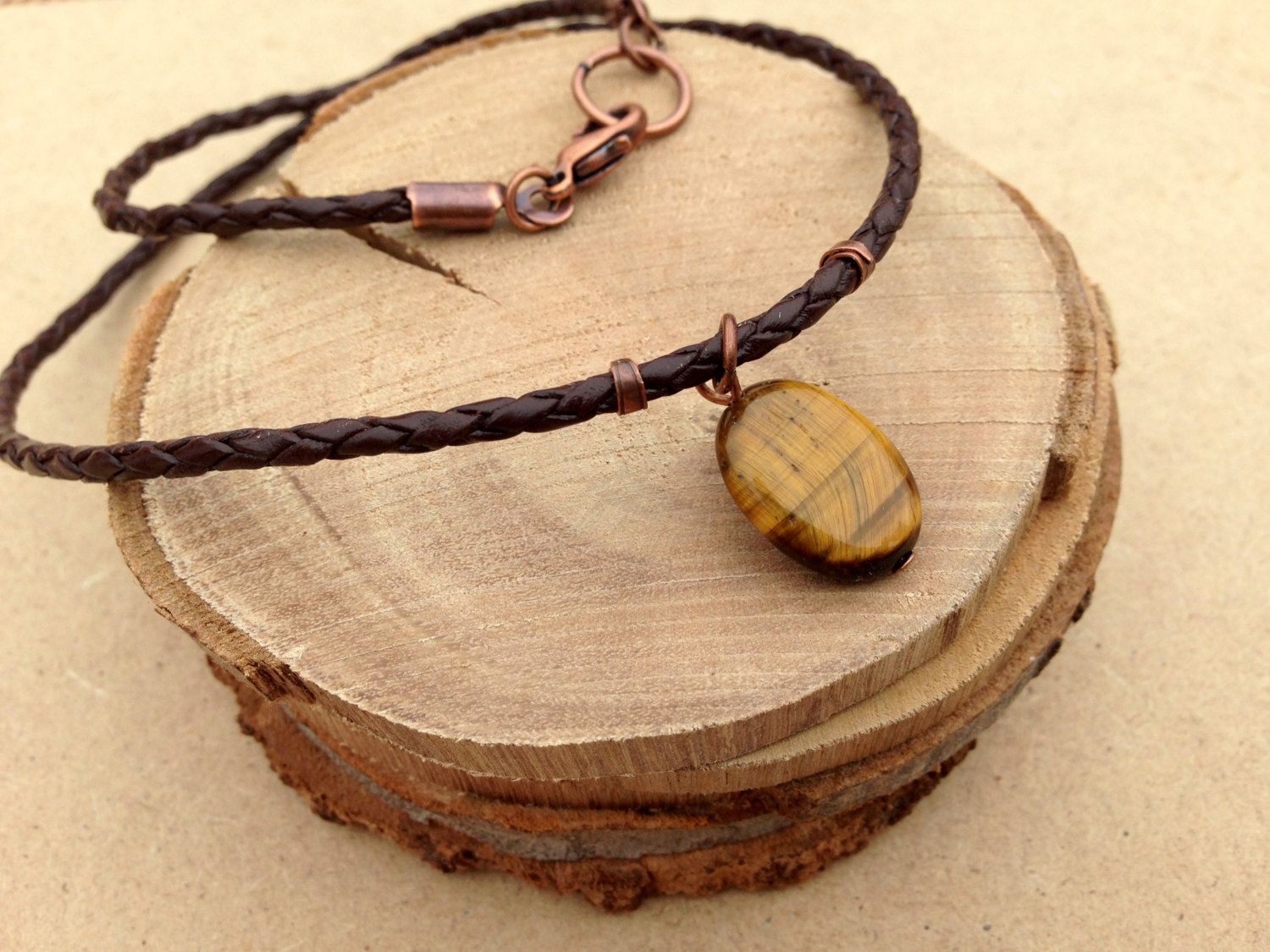 Tiger eye mens pendant necklace male gift for him male gifts