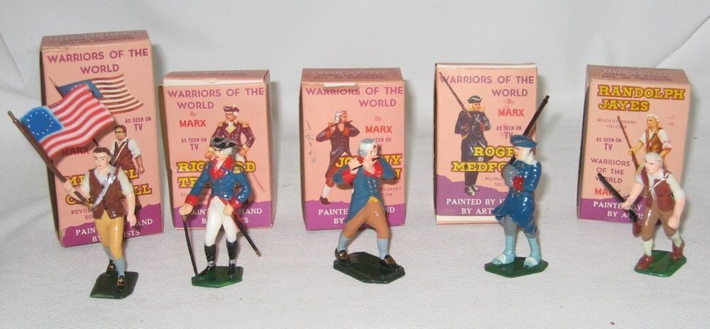 1960's Marx Warriors of the World 5 Revolutionary Soldiers MIB #BT46