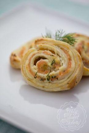 Lachs-Blätterteig-Schnecken | Filizity.com #appetizersforparty