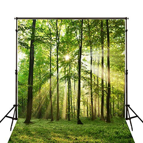 8x12 FT Nature Vinyl Photography Backdrop,Dotted Abstract Background Tree and Bird Silhouettes Barren Forest Background for Photo Backdrop Baby Newborn Photo Studio Props