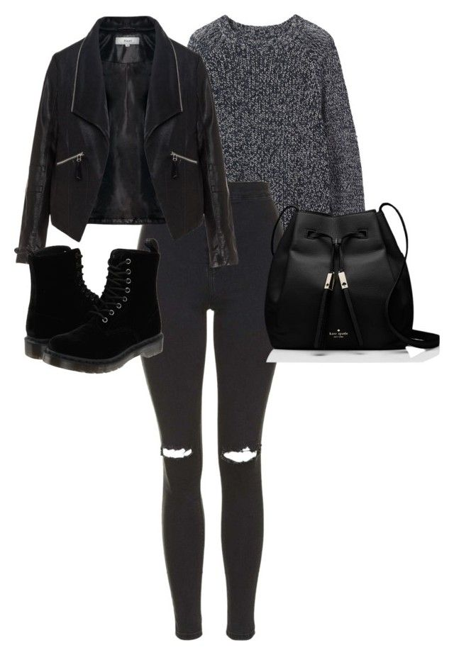 """""""Untitled #70"""" by mariiana-potato ❤ liked on Polyvore featuring Toast, Topshop, Zizzi, Dr. Martens and Kate Spade"""