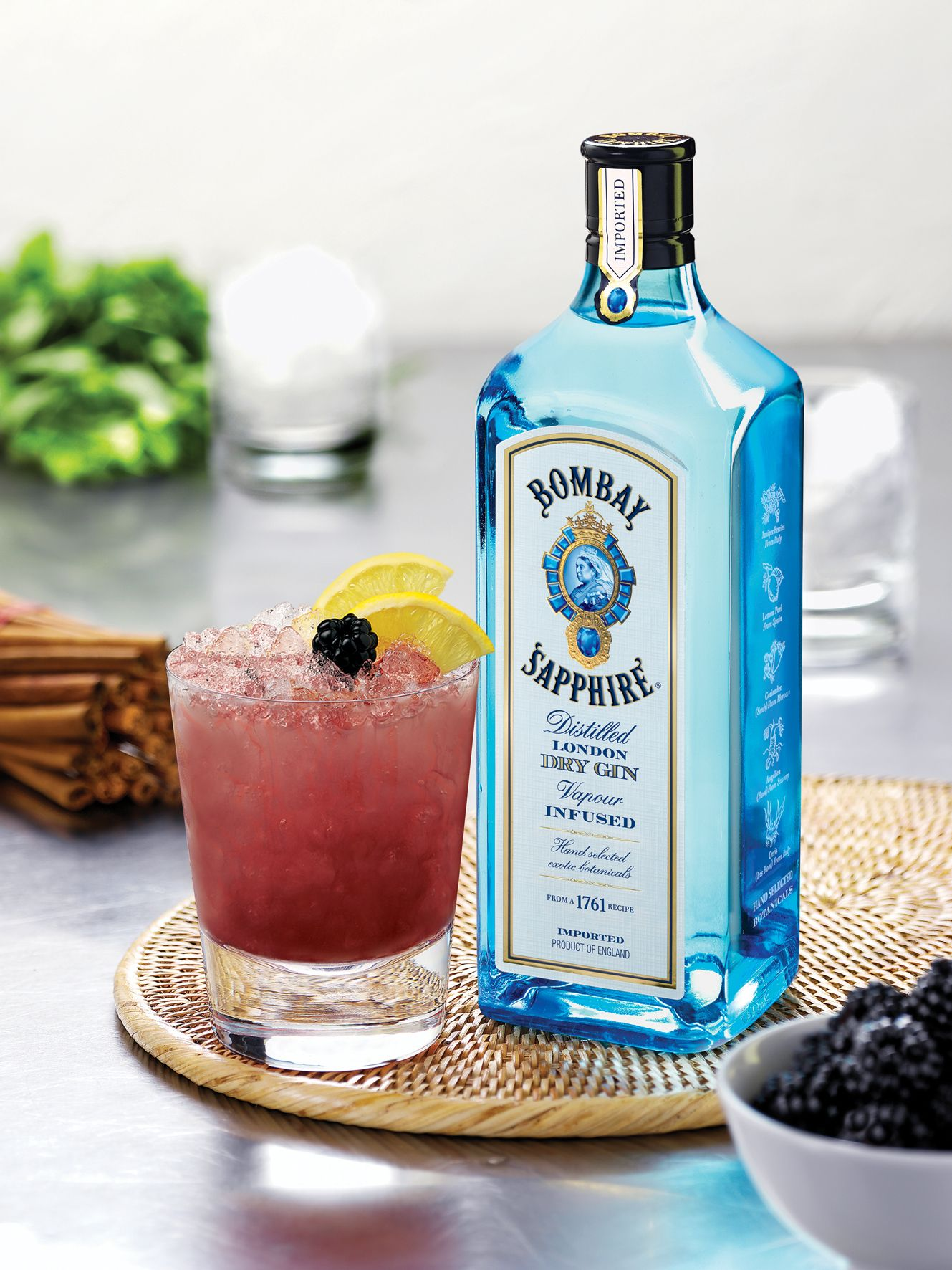 Bombay Sapphire Bramble London Dry Gin Dry Gin Cocktail Photography