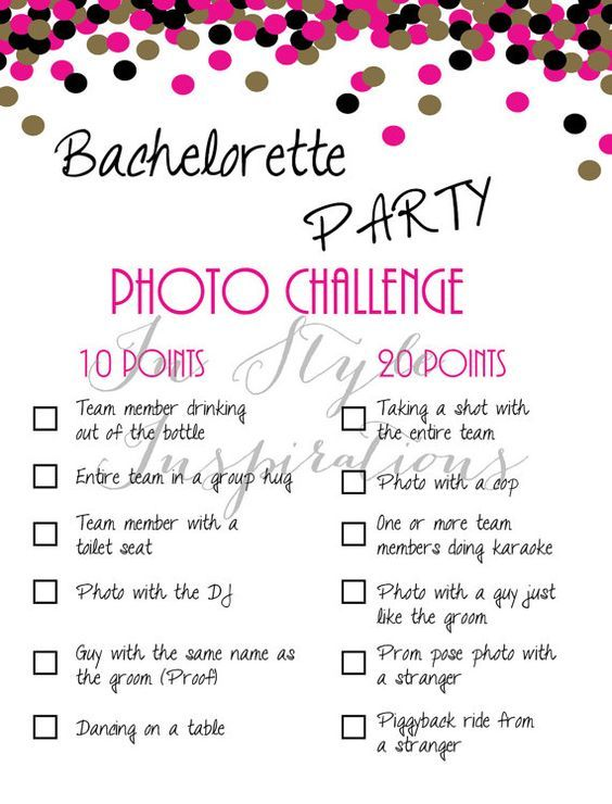 bachelorette party game photo challenge pink and gold evjf future mari e et id e mariage. Black Bedroom Furniture Sets. Home Design Ideas