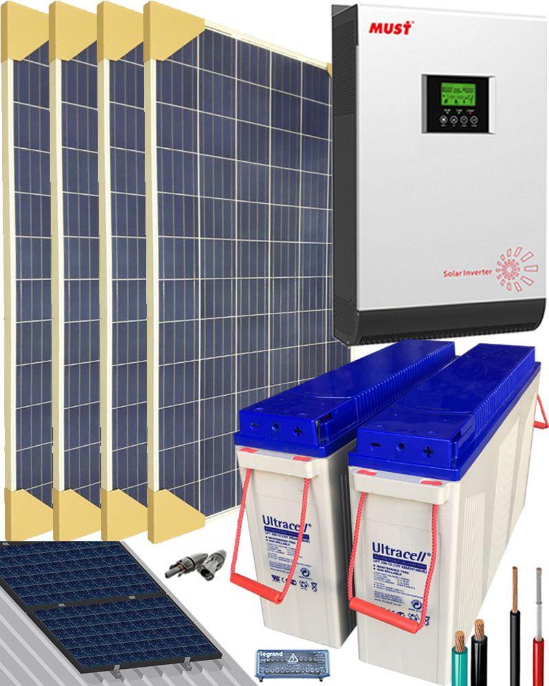 Kit Solar Casa Campo 3000w 24v 6400whdia In 2020 Mit Bildern Energie