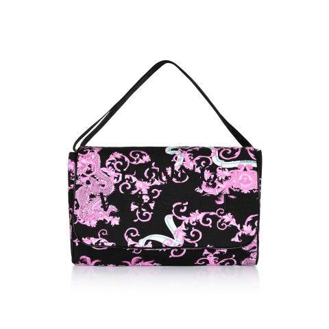 167e3cf2ab03 Young Versace Pink   Black Dragon Print Baby Changing Bag