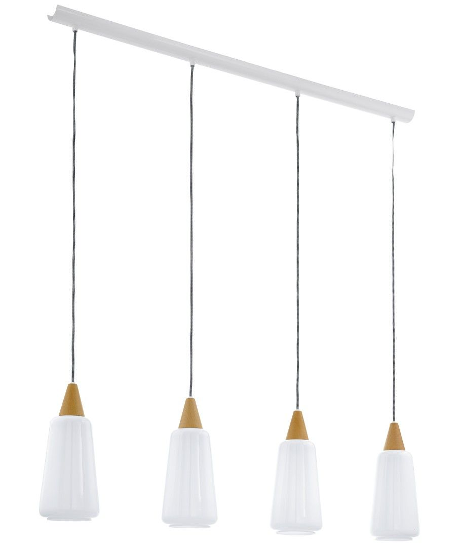 Beacon lighting pentone 4 light pendant with opal glass shades beacon lighting pentone 4 light pendant with opal glass shades ashwood finial and white aloadofball Choice Image
