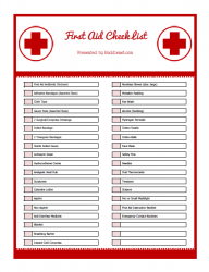 It S Summertime First Aid Kit Supply List Printable Emergency Prepping First Aid Kit Supplies Survival
