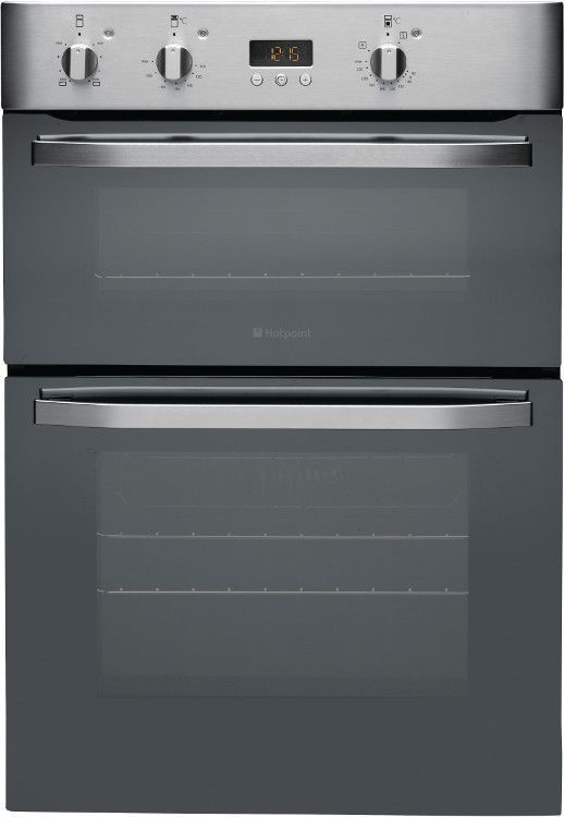 Hotpoint Dhs53xs Built In Double Electric Fan Oven With Grill In St St Mirror Electric Double Oven Stainless Steel Oven Hotpoint