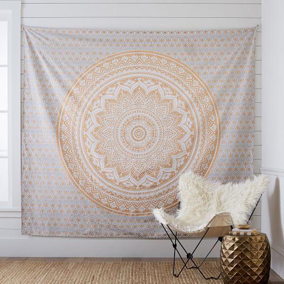 Printed Tapestry GoldWhite PBteen Bailee McKay Pinterest