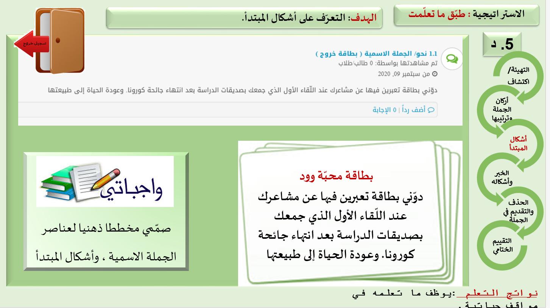 بوربوينت درس الجملة الاسمية للصف الرابع مادة اللغة العربية Casual Fashion Quick