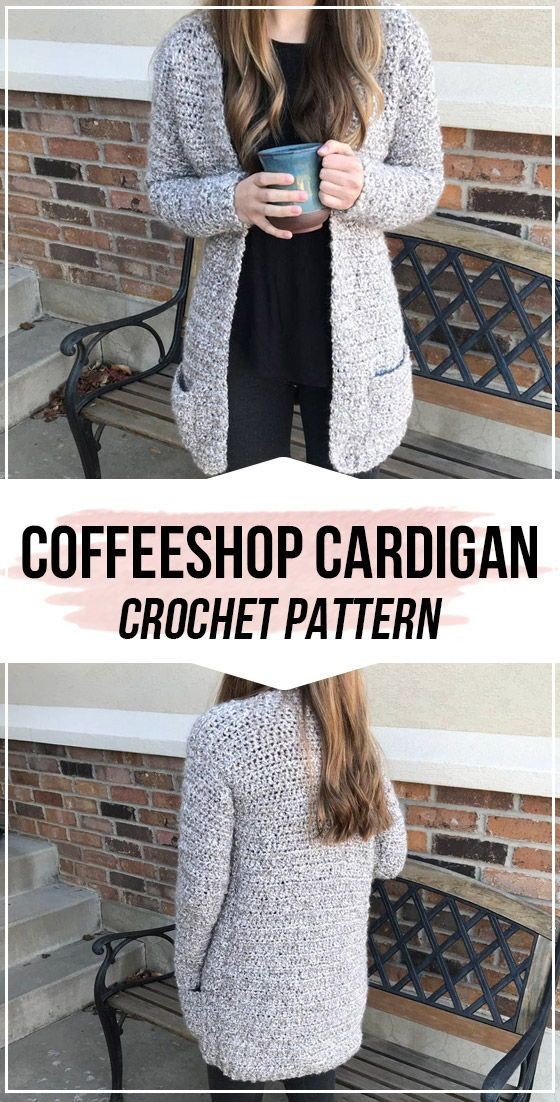 crochet The Coffeeshop Cardigan pattern     -  Crochet Pattern  #crochetpatterns