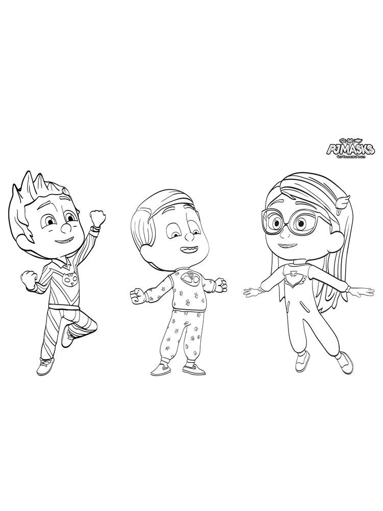 Pj Masks Halloween Coloring Pages